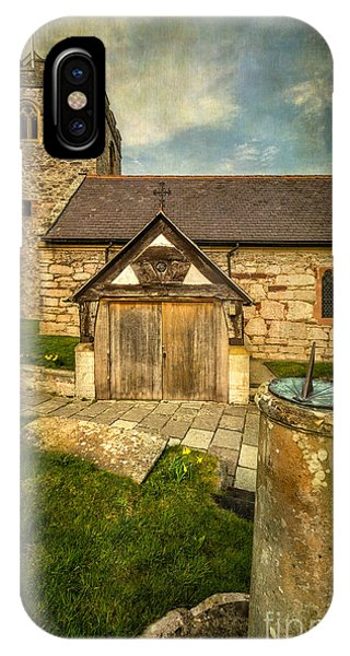 Celtics iPhone Case - Church Sundial 1806 by Adrian Evans