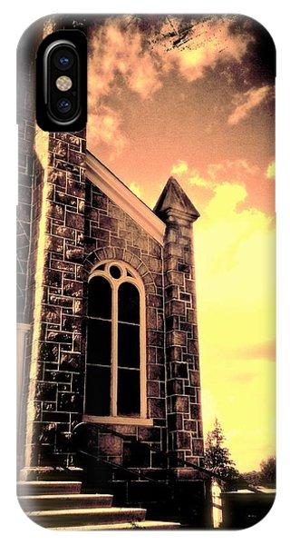 Church Vignette Against Sky IPhone Case