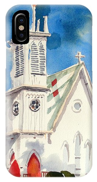 Church With Jet Contrail IPhone Case
