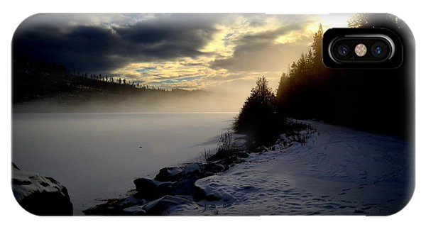 Chute Lake Winter IPhone Case
