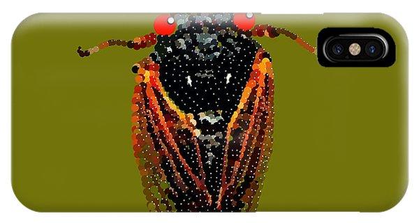 Cicada In Green IPhone Case