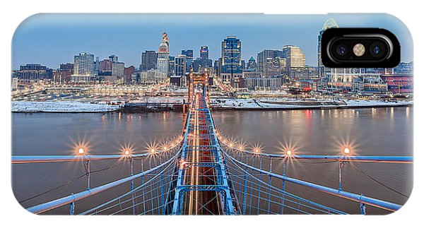 Cincinnati From On Top Of The Bridge IPhone Case