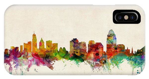 Cincinnati Ohio Skyline IPhone Case