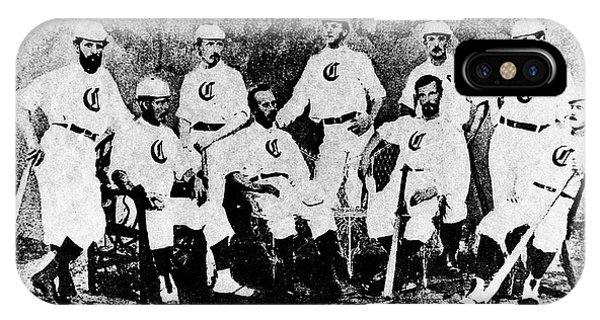 Cincinnati Red Stocking Baseball Team IPhone Case