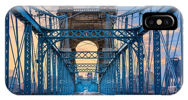 Cincinnati Suspension Bridge IPhone Case