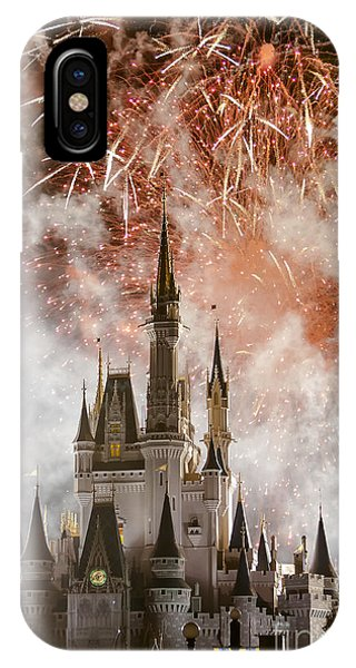 Magic Kingdom Castle Firework Finale IPhone Case