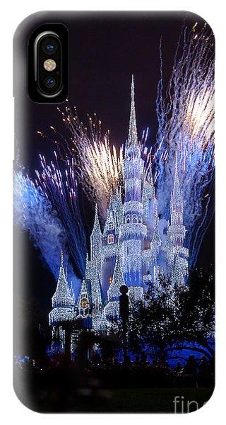 Magic Kingdom Castle Frozen Blue IPhone Case