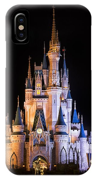 Palace iPhone X Case - Cinderella's Castle In Magic Kingdom by Adam Romanowicz