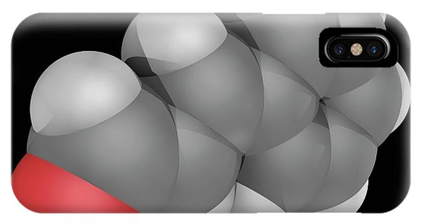 Organic Matter iPhone Case - Cinnamaldehyde Molecule by Laguna Design/science Photo Library