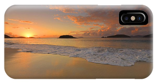 Cinnamon Bay Sunset Reflections Phone Case by Stephen  Vecchiotti