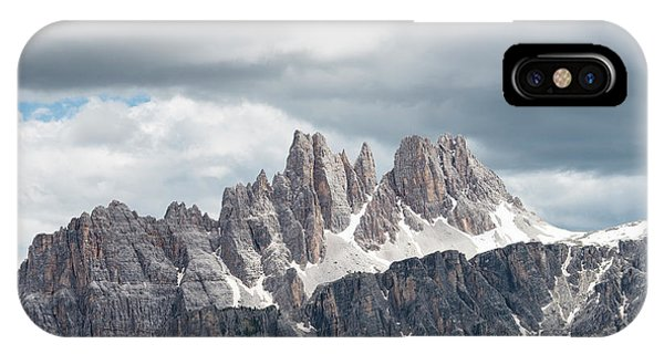Rocky Mountain iPhone Case - Cinque Torri Area In The Dolomites by Marcos Ferro