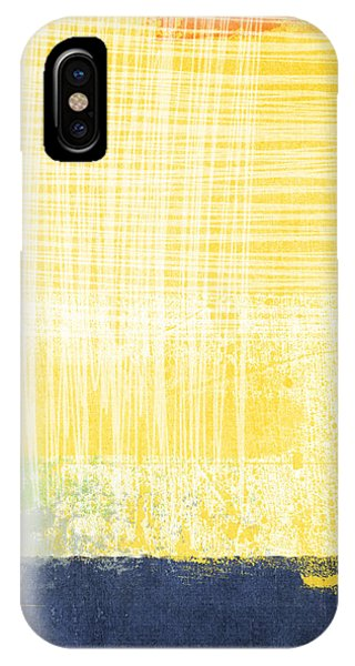 Blue Abstracts iPhone Case - Circadian by Linda Woods