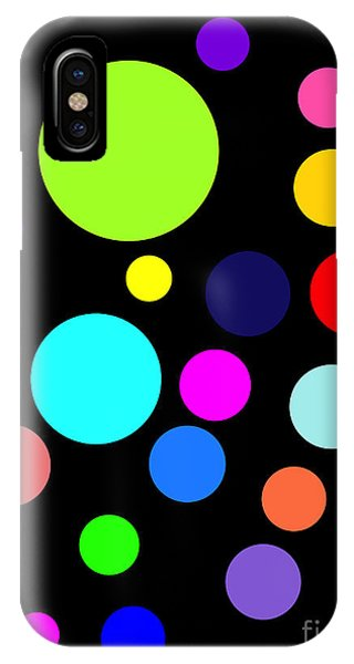 Circles On Black IPhone Case