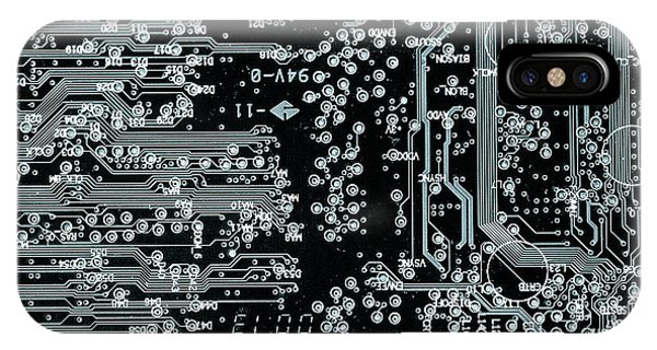Technological iPhone Case - Circuit Board by Wladimir Bulgar/science Photo Library