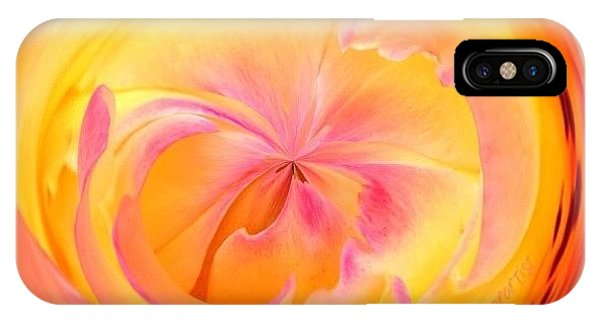 Edit iPhone Case - Circumspect Rose by Anna Porter