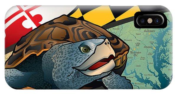 Chesapeake Bay iPhone X Case - Citizen Terrapin Maryland's Turtle by Joe Barsin