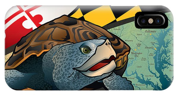 Citizen Terrapin Maryland's Turtle IPhone Case