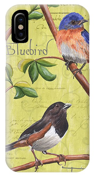 Bluebird iPhone Case - Citron Songbirds 1 by Debbie DeWitt
