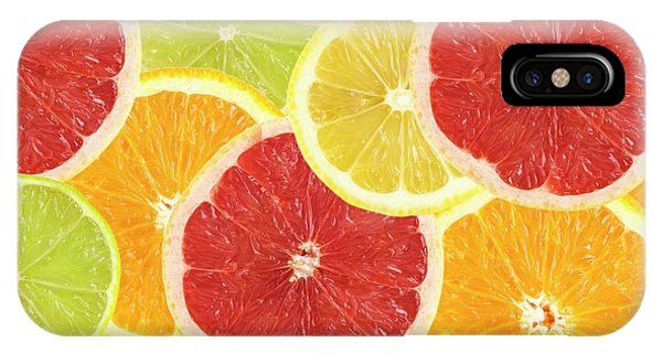 Grapefruit iPhone Case - Citrus Fruit Slices by Science Photo Library