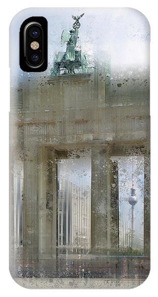 City-art Berlin Brandenburg Gate IPhone Case