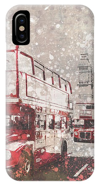 City-art London Red Buses II IPhone Case