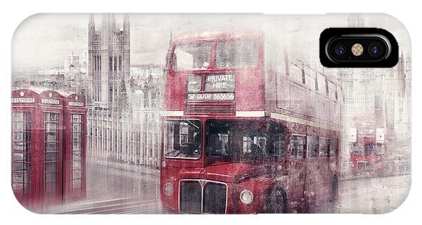 Big Ben iPhone Case - City-art London Westminster Collage II by Melanie Viola