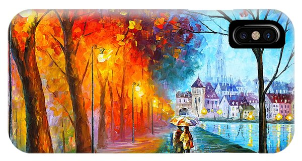 Afremov iPhone X Case - City By The Lake by Leonid Afremov