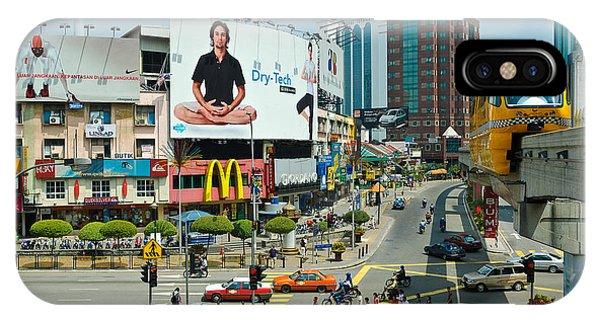 City Centre Scene - Kuala Lumpur - Malaysia IPhone Case