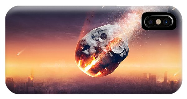 Smoke Fantasy iPhone Case - City Destroyed By Meteor Shower by Johan Swanepoel