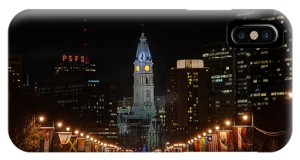 City Hall At Night IPhone Case