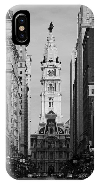 City Hall B/w IPhone Case