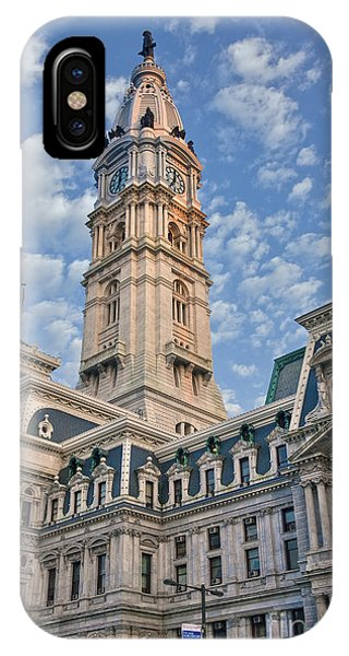 City Hall Clock Tower Downtown Phila Pa IPhone Case