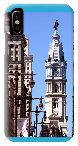 Philadelphia City Hall From Broad St IPhone Case