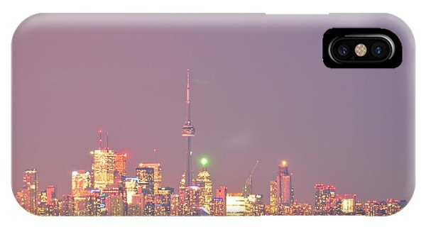 City Lights Glimmer Over Open Water  IPhone Case