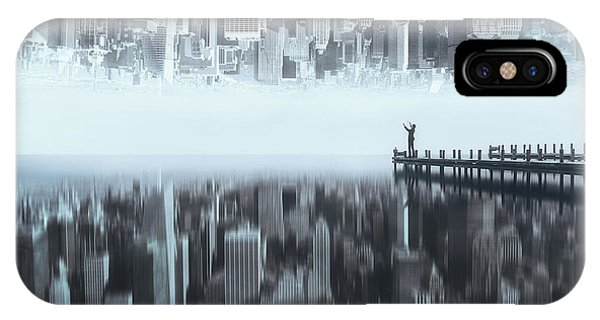 Free iPhone Case - City Of Mirror by Terry F