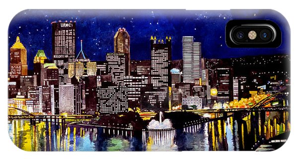 Regatta iPhone Case - City Of Pittsburgh At The Point by Christopher Shellhammer