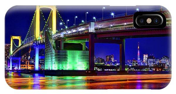 Odaiba iPhone Case - City Of Rainbows by Midori Chan