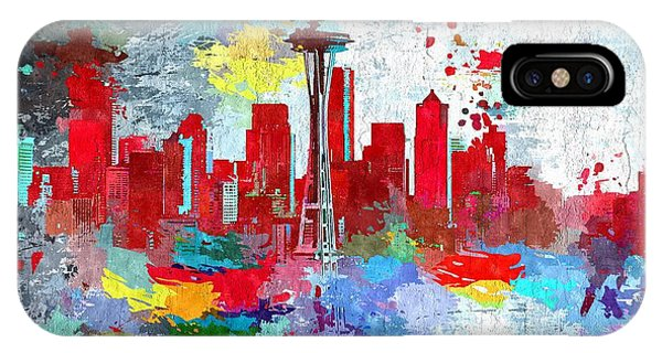 City Of Seattle Grunge IPhone Case
