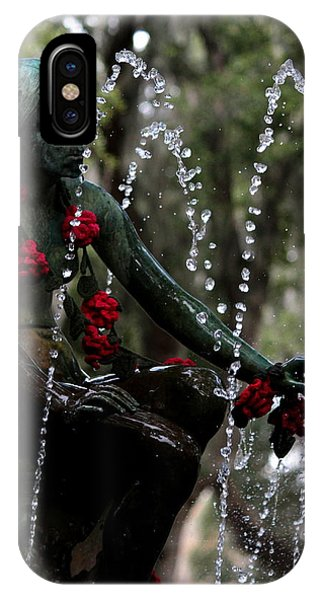 City Park Fountain II IPhone Case