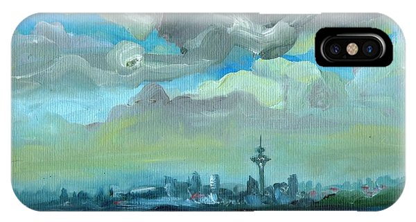 City Skyline Impressionist Painting IPhone Case