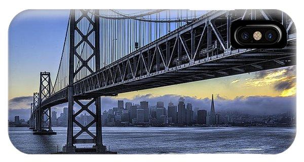 City Skyline Under The Bay Bridge IPhone Case