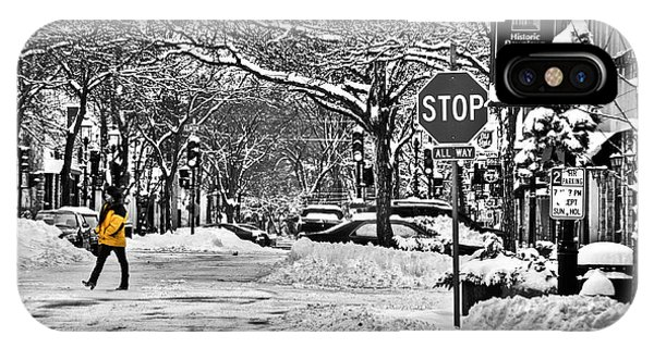 City Snowstorm IPhone Case