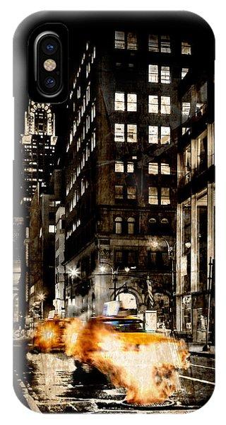 Cab iPhone Case - City Streets  by Az Jackson