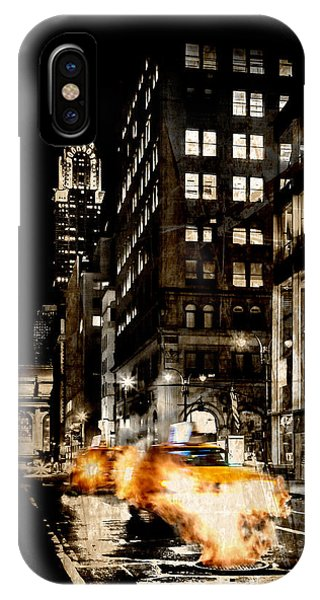 Chrysler Building iPhone Case - City Streets  by Az Jackson