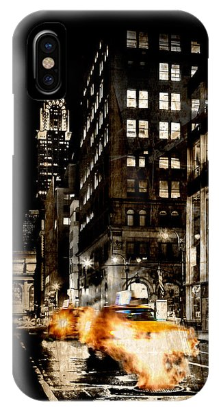 Chrysler Building iPhone Case - City Streets  by Az Jackson