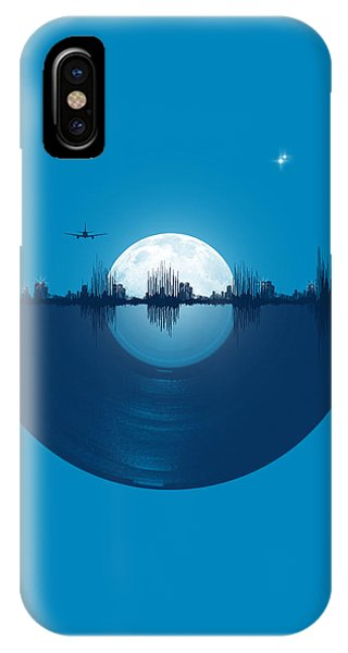 Skyline iPhone Case - City Tunes by Neelanjana  Bandyopadhyay