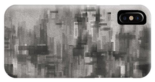 Visual Illusion iPhone Case - Cityscape 3 by Jack Zulli