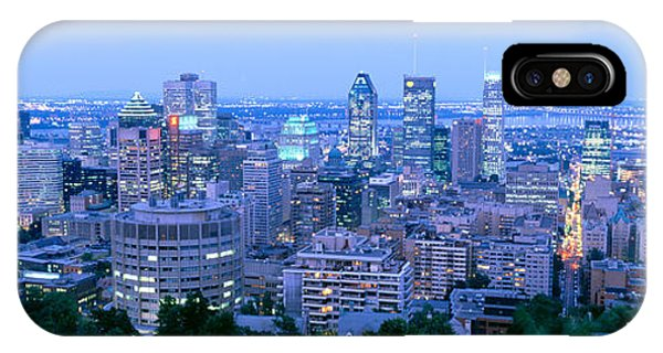 Quebec City iPhone Case - Cityscape At Dusk, Montreal, Quebec by Panoramic Images