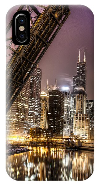 Cityscape Reflection In Chicago River March 2014 Phone Case by Michael  Bennett