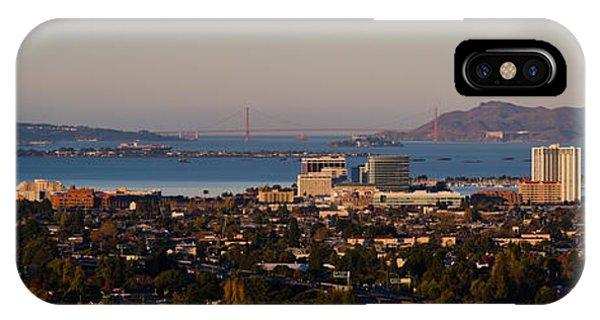 Cityscape With Golden Gate Bridge IPhone Case